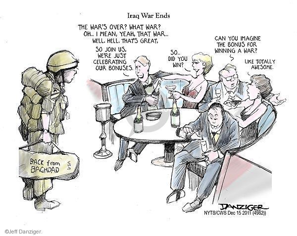 Cartoonist Jeff Danziger  Jeff Danziger's Editorial Cartoons 2011-12-15 withdrawal