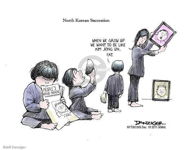 Cartoonist Jeff Danziger  Jeff Danziger's Editorial Cartoons 2011-12-19 leadership