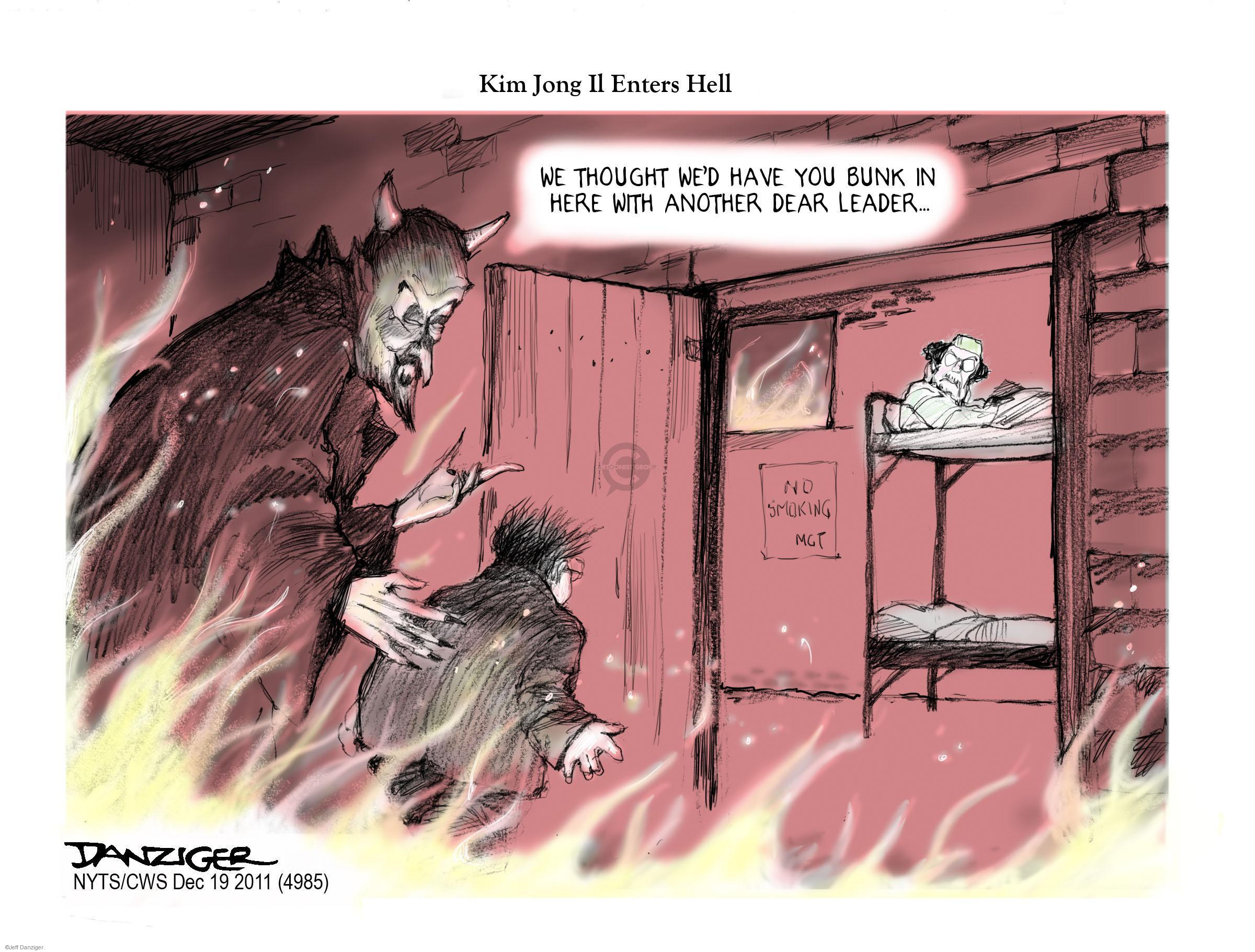 Cartoonist Jeff Danziger  Jeff Danziger's Editorial Cartoons 2011-12-19 devil
