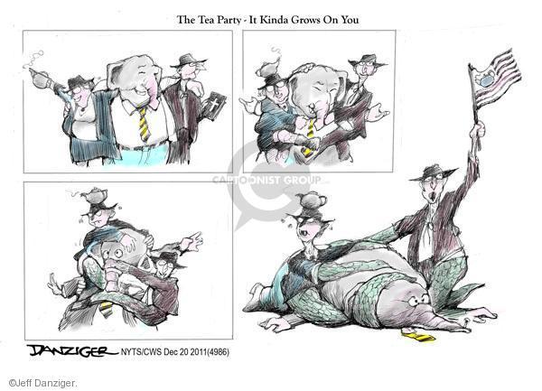 Cartoonist Jeff Danziger  Jeff Danziger's Editorial Cartoons 2011-12-20 party loyalty