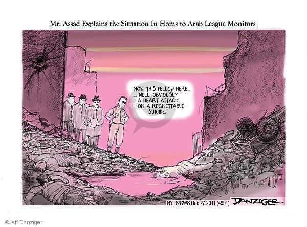 Cartoonist Jeff Danziger  Jeff Danziger's Editorial Cartoons 2011-12-27 suicide