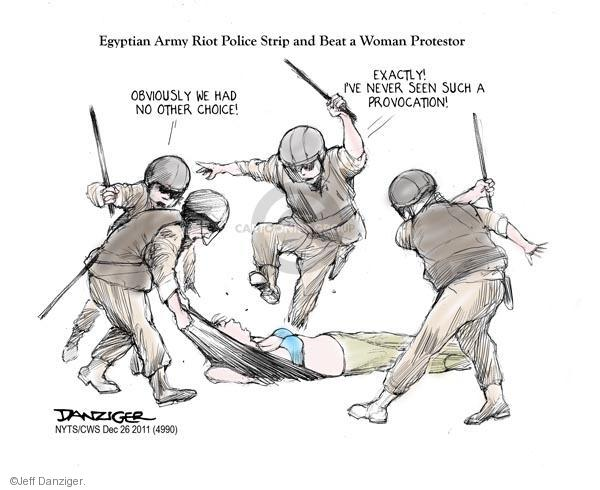 Cartoonist Jeff Danziger  Jeff Danziger's Editorial Cartoons 2011-12-26 women in military