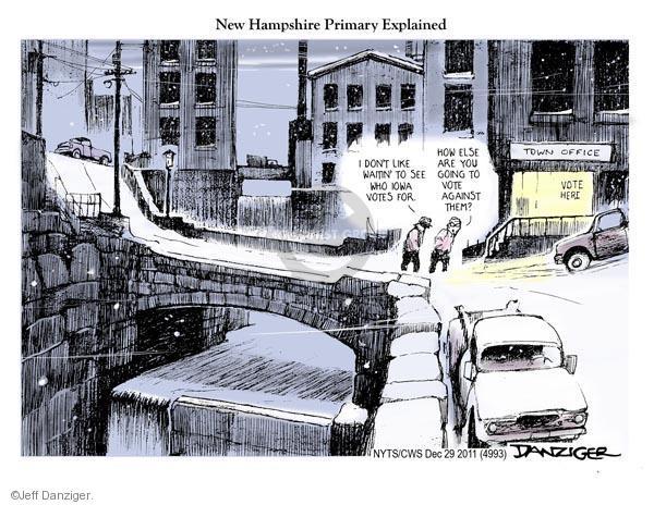 Cartoonist Jeff Danziger  Jeff Danziger's Editorial Cartoons 2011-12-29 republican politician