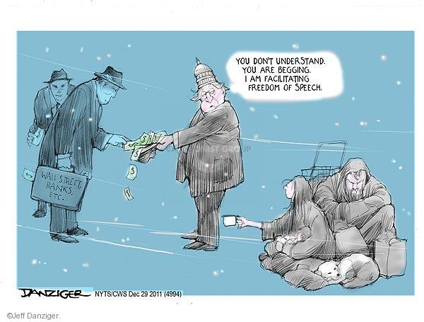 Cartoonist Jeff Danziger  Jeff Danziger's Editorial Cartoons 2011-12-29 corporate