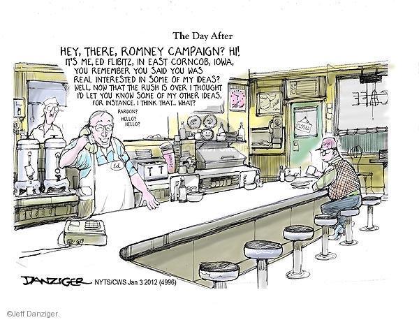 Cartoonist Jeff Danziger  Jeff Danziger's Editorial Cartoons 2012-01-03 republican politician