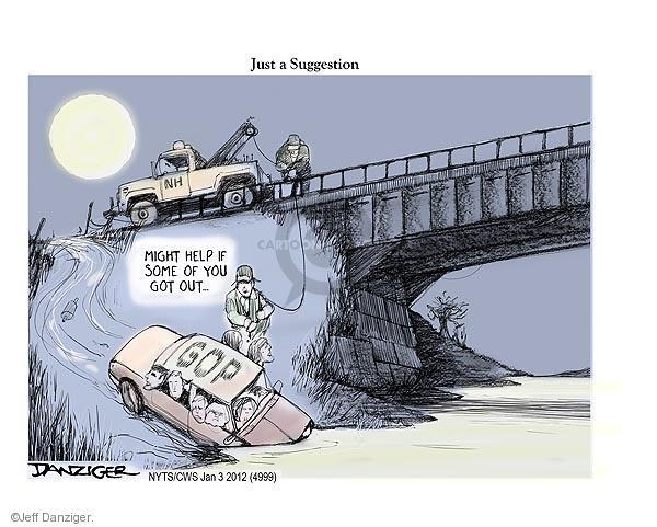 Jeff Danziger  Jeff Danziger's Editorial Cartoons 2012-01-03 Michele Bachmann
