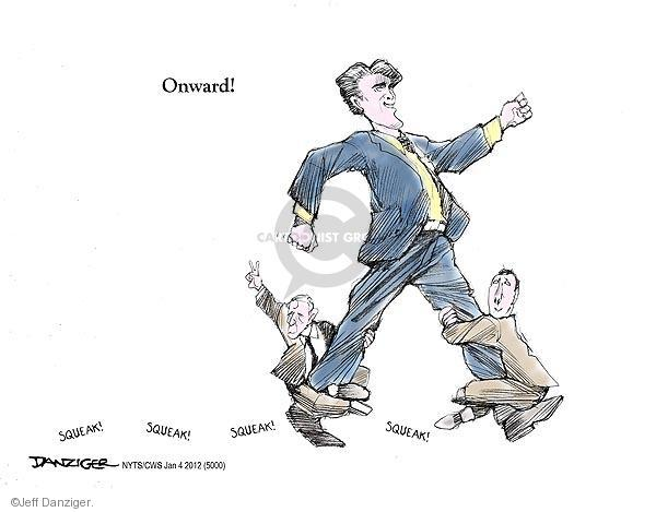 Cartoonist Jeff Danziger  Jeff Danziger's Editorial Cartoons 2012-01-04 republican politician