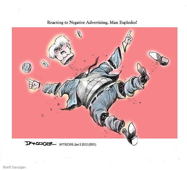 Cartoonist Jeff Danziger  Jeff Danziger's Editorial Cartoons 2012-01-05 campaign ad