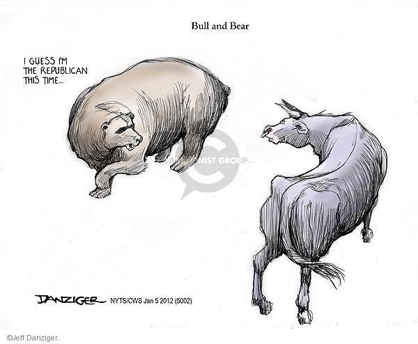 Cartoonist Jeff Danziger  Jeff Danziger's Editorial Cartoons 2012-01-05 guess