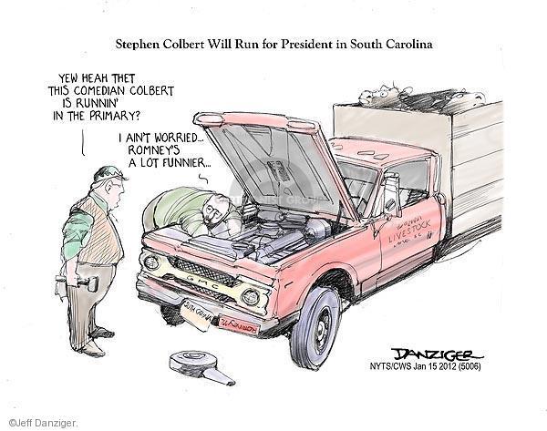 Cartoonist Jeff Danziger  Jeff Danziger's Editorial Cartoons 2012-01-15 republican politician