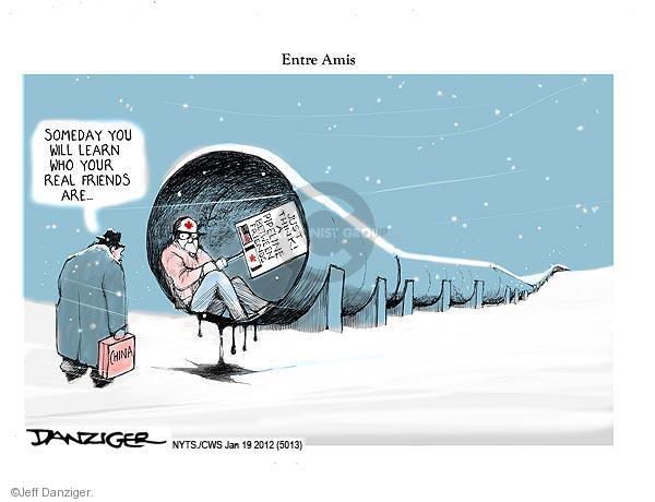 Cartoonist Jeff Danziger  Jeff Danziger's Editorial Cartoons 2012-01-19 Keystone Pipeline