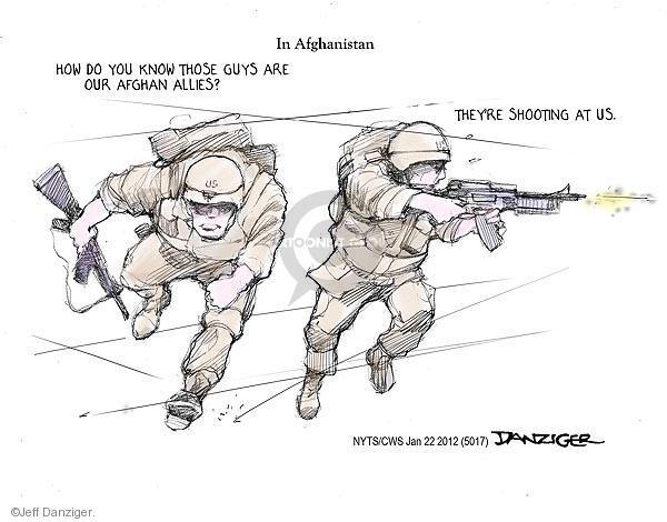 Jeff Danziger  Jeff Danziger's Editorial Cartoons 2012-01-22 Afghan