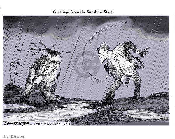 Cartoonist Jeff Danziger  Jeff Danziger's Editorial Cartoons 2012-01-26 Newt Gingrich