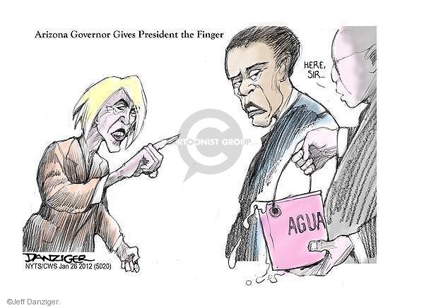 Cartoonist Jeff Danziger  Jeff Danziger's Editorial Cartoons 2012-01-26 Arizona