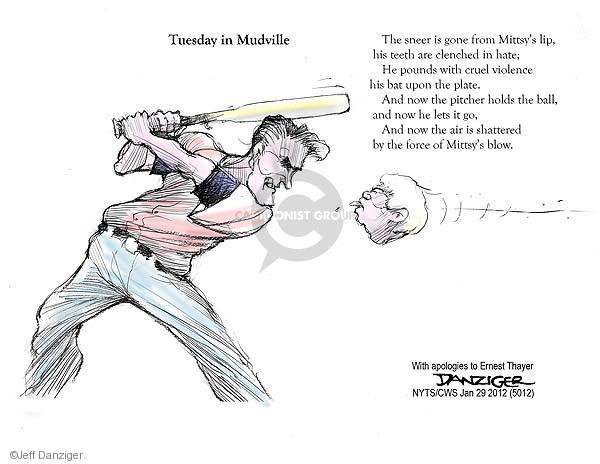 Cartoonist Jeff Danziger  Jeff Danziger's Editorial Cartoons 2012-01-29 Newt Gingrich