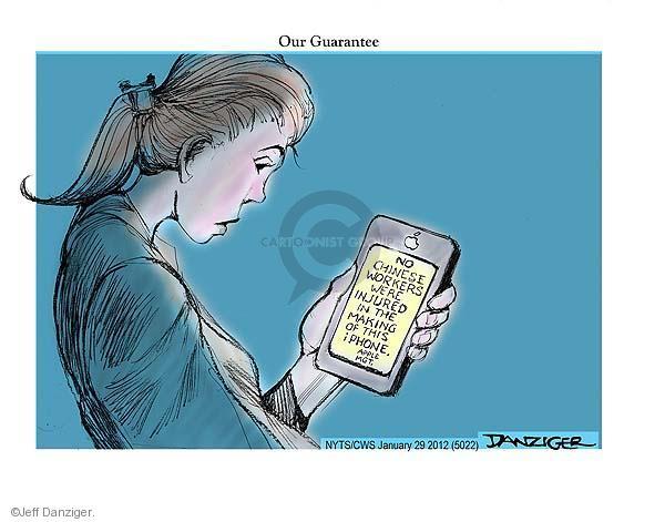 Jeff Danziger  Jeff Danziger's Editorial Cartoons 2012-01-29 factory worker