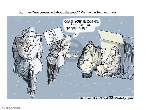 Cartoonist Jeff Danziger  Jeff Danziger's Editorial Cartoons 2012-02-02 candidates republicans