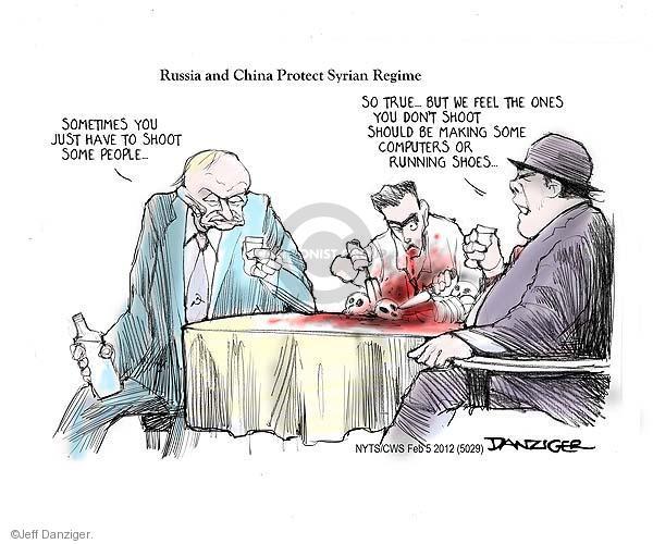 Cartoonist Jeff Danziger  Jeff Danziger's Editorial Cartoons 2012-02-05 support
