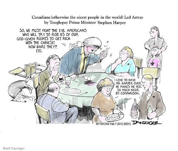 Cartoonist Jeff Danziger  Jeff Danziger's Editorial Cartoons 2012-02-07 Keystone Pipeline