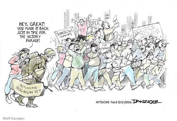 Cartoonist Jeff Danziger  Jeff Danziger's Editorial Cartoons 2012-02-08 championship