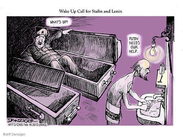 Cartoonist Jeff Danziger  Jeff Danziger's Editorial Cartoons 2012-02-16 communism