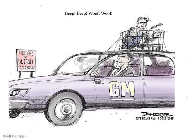 Cartoonist Jeff Danziger  Jeff Danziger's Editorial Cartoons 2012-02-17 candidates republicans