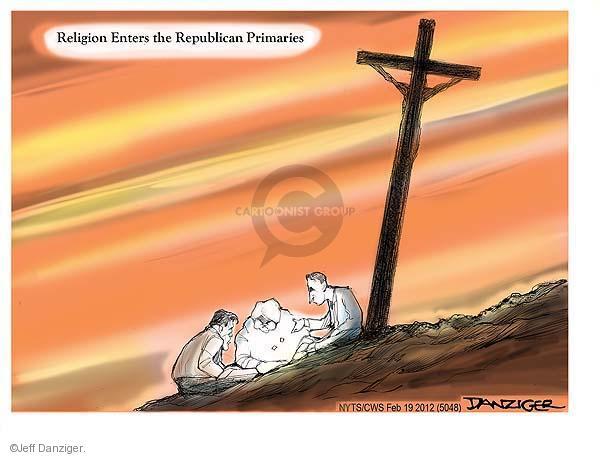 Cartoonist Jeff Danziger  Jeff Danziger's Editorial Cartoons 2012-02-19 Newt Gingrich