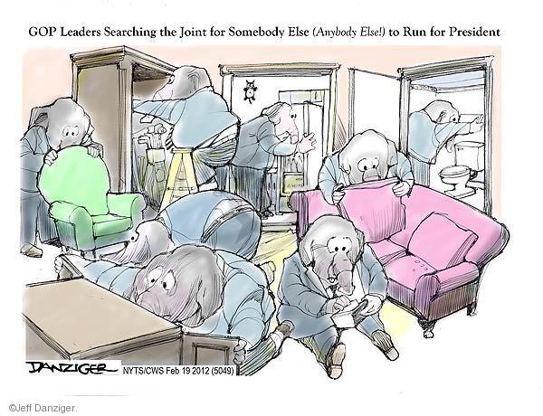 Cartoonist Jeff Danziger  Jeff Danziger's Editorial Cartoons 2012-02-19 republican politician