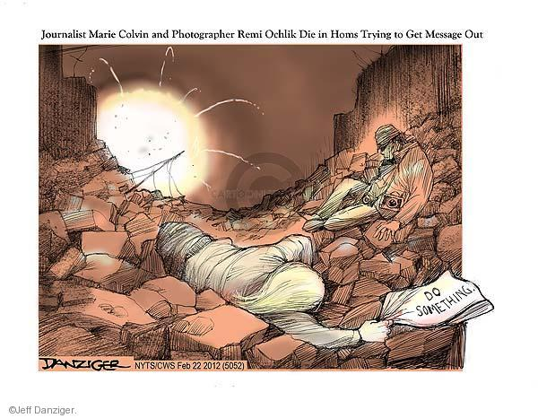 Cartoonist Jeff Danziger  Jeff Danziger's Editorial Cartoons 2012-02-22 bomb