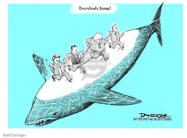 Cartoonist Jeff Danziger  Jeff Danziger's Editorial Cartoons 2012-02-26 Newt Gingrich