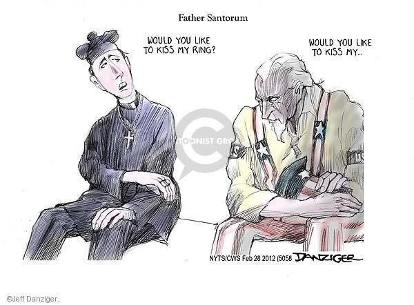 Cartoonist Jeff Danziger  Jeff Danziger's Editorial Cartoons 2012-02-29 republican politician