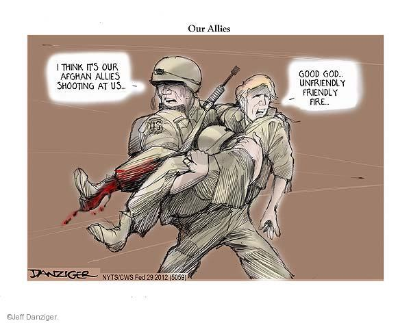 Cartoonist Jeff Danziger  Jeff Danziger's Editorial Cartoons 2012-02-29 Afghan