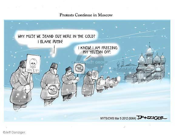 Cartoonist Jeff Danziger  Jeff Danziger's Editorial Cartoons 2012-03-05 Moscow