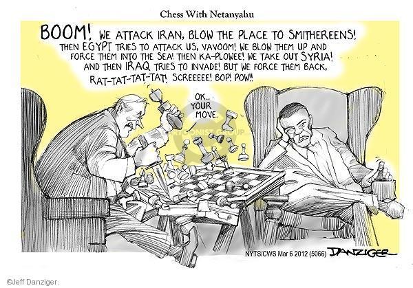 Jeff Danziger  Jeff Danziger's Editorial Cartoons 2012-03-06 Israel
