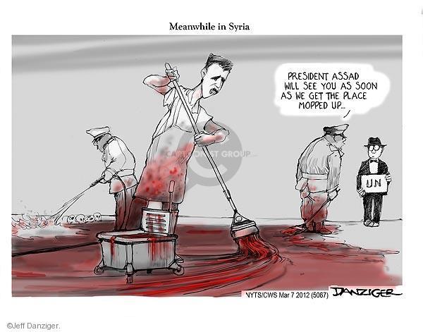 Cartoonist Jeff Danziger  Jeff Danziger's Editorial Cartoons 2012-03-07 international conflict