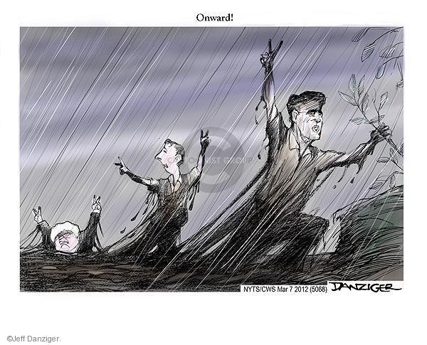 Cartoonist Jeff Danziger  Jeff Danziger's Editorial Cartoons 2012-03-07 Newt Gingrich