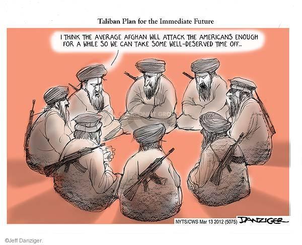 Cartoonist Jeff Danziger  Jeff Danziger's Editorial Cartoons 2012-03-13 Afghan
