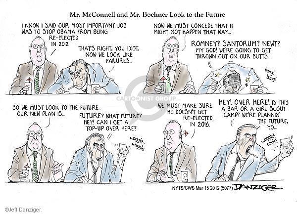 Cartoonist Jeff Danziger  Jeff Danziger's Editorial Cartoons 2012-03-15 Newt Gingrich