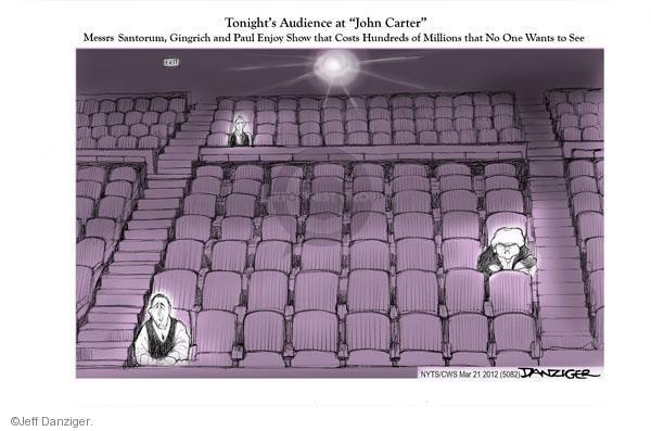 Cartoonist Jeff Danziger  Jeff Danziger's Editorial Cartoons 2012-03-21 Newt Gingrich