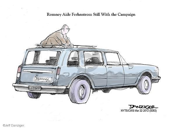 Romney Aide Ferhnstrom Still With the Campaign. Romney.