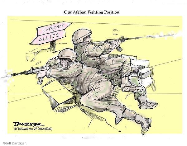 Cartoonist Jeff Danziger  Jeff Danziger's Editorial Cartoons 2012-03-27 Afghan