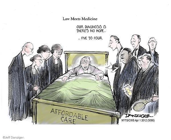 Cartoonist Jeff Danziger  Jeff Danziger's Editorial Cartoons 2012-04-01 ruling