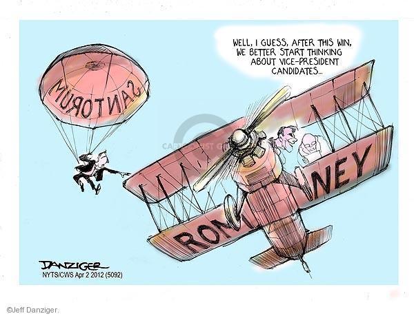 Cartoonist Jeff Danziger  Jeff Danziger's Editorial Cartoons 2012-04-02 candidates republicans