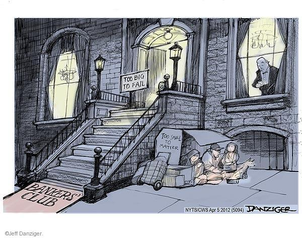 Cartoonist Jeff Danziger  Jeff Danziger's Editorial Cartoons 2012-04-05 poverty