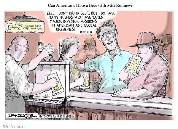 Cartoonist Jeff Danziger  Jeff Danziger's Editorial Cartoons 2012-04-08 candidates republicans