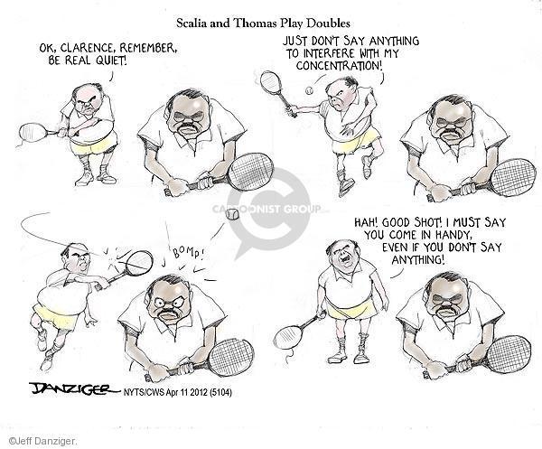 Jeff Danziger  Jeff Danziger's Editorial Cartoons 2012-04-11 tennis