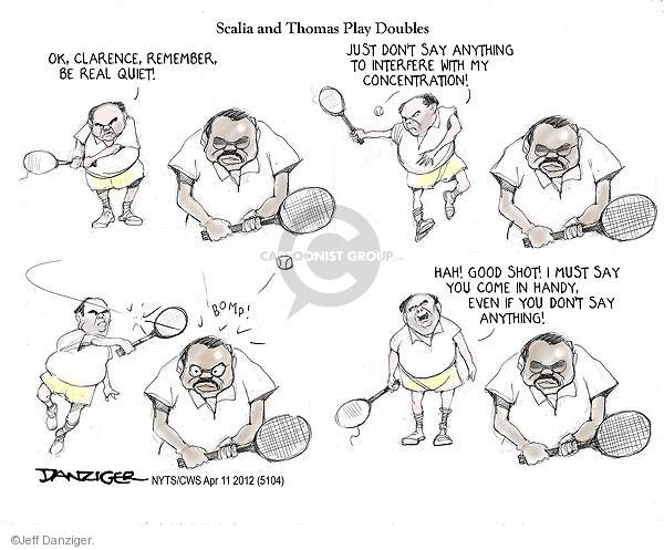 Cartoonist Jeff Danziger  Jeff Danziger's Editorial Cartoons 2012-04-11 legal