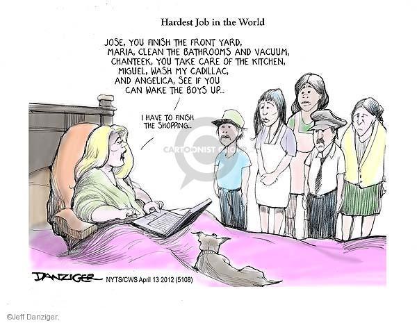 Cartoonist Jeff Danziger  Jeff Danziger's Editorial Cartoons 2012-04-13 candidates republicans