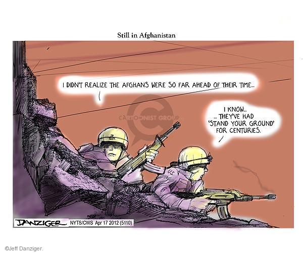Cartoonist Jeff Danziger  Jeff Danziger's Editorial Cartoons 2012-04-17 international law