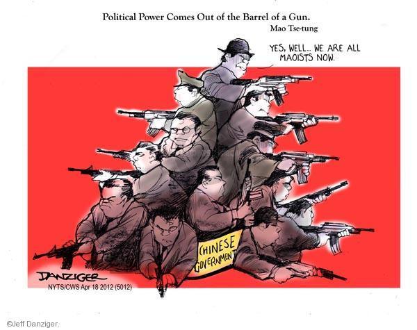 Cartoonist Jeff Danziger  Jeff Danziger's Editorial Cartoons 2012-04-18 communism